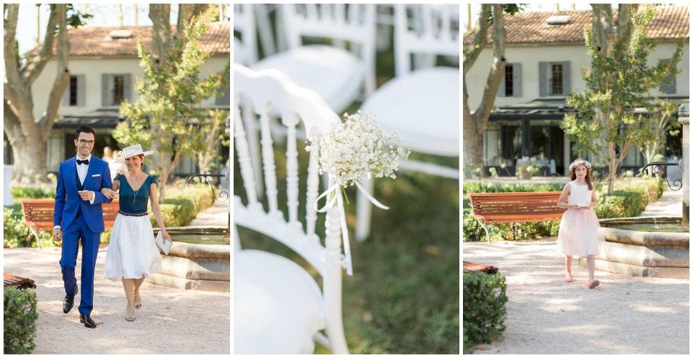 cérémonie laique en extérieur lors d'un mariage en été