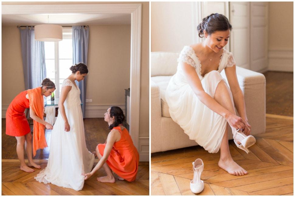 préparatifs du mariage au domaine de vavril