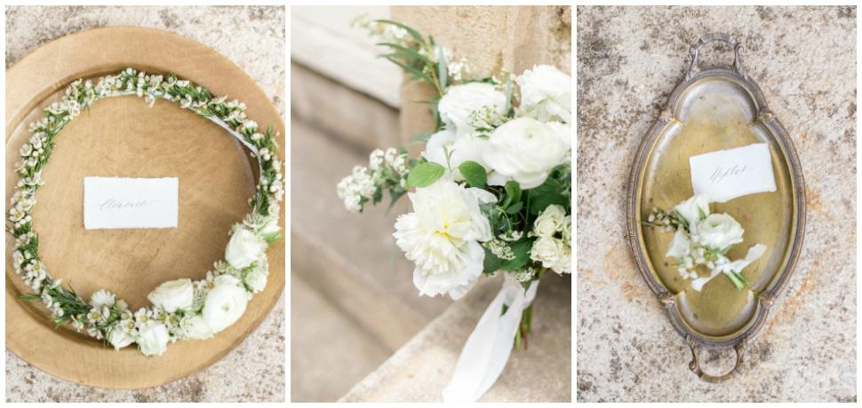 décoration florale de mariage au chateau des ravatys