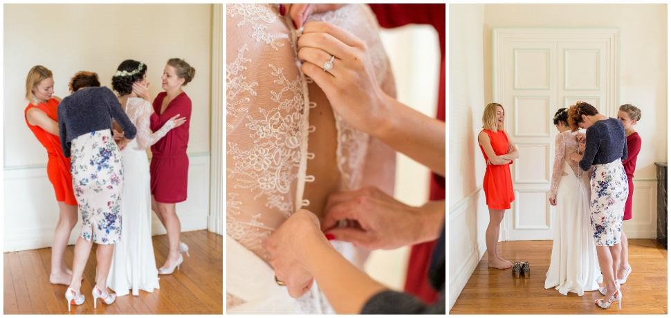 préparatifs de la mariée avec ses amies au chateau des ravatys