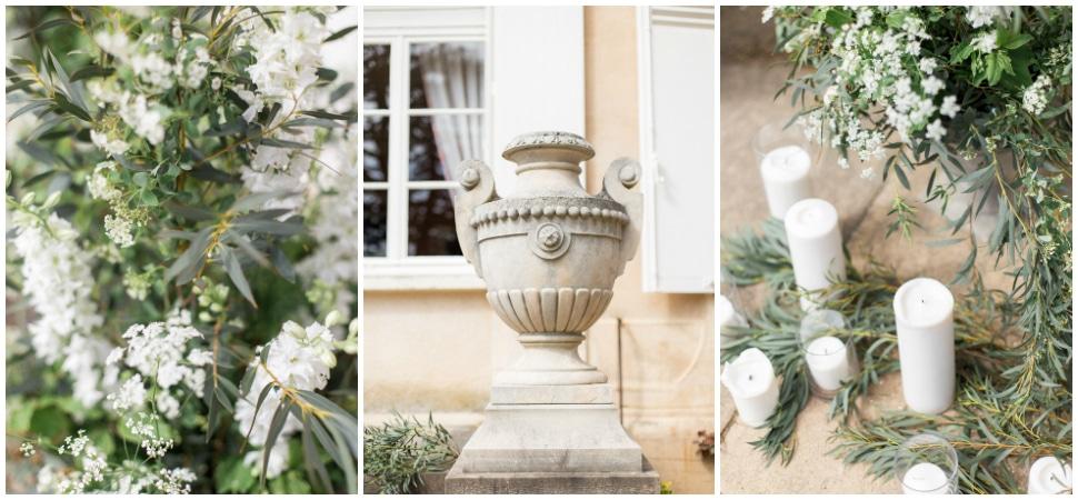 décoration végétale de cérémonie au chateau des ravatys
