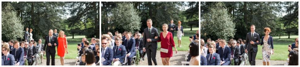 cérémonie de mariage au chateau des ravatys
