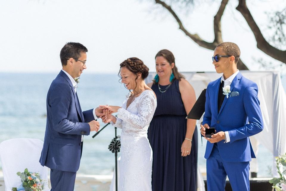 cérémonie de mariage à la villa mauresque à saint raphael