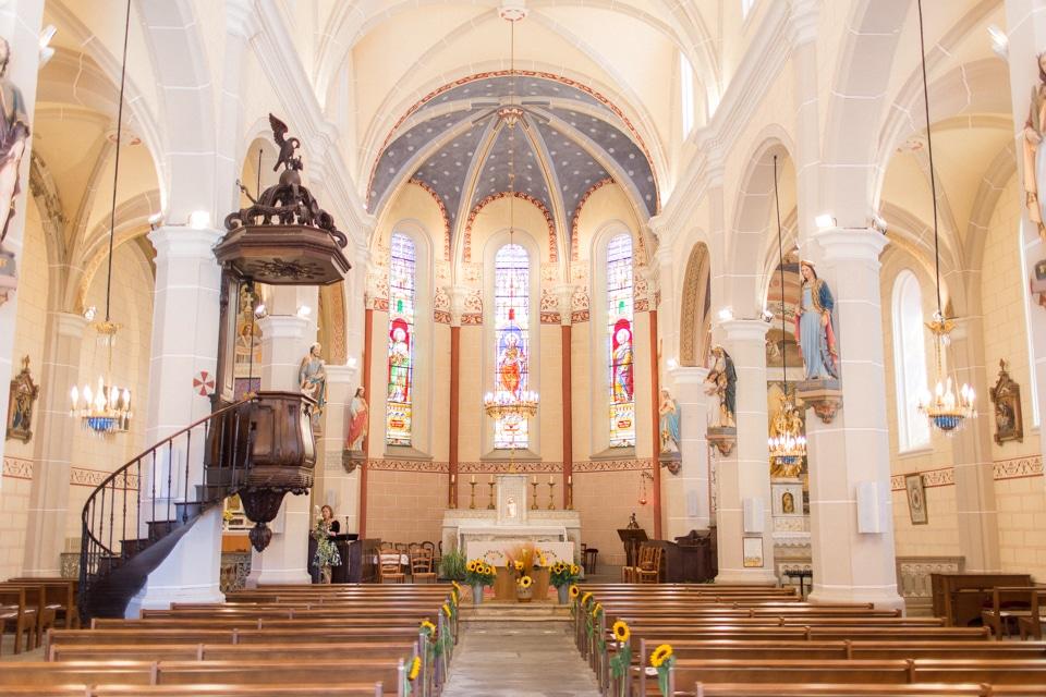 cérémonie de mariage à l'église de Saint Marcel de Félines