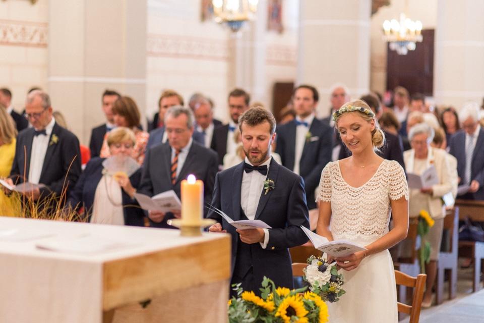 mariage à l'église de Saint Marcel de Félines