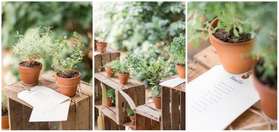 photo du plan de table botanique de mariage