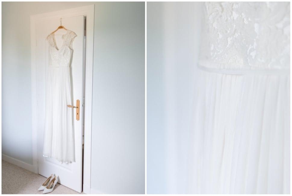 la robe de la mariée dans la maison familiale en bourgogne