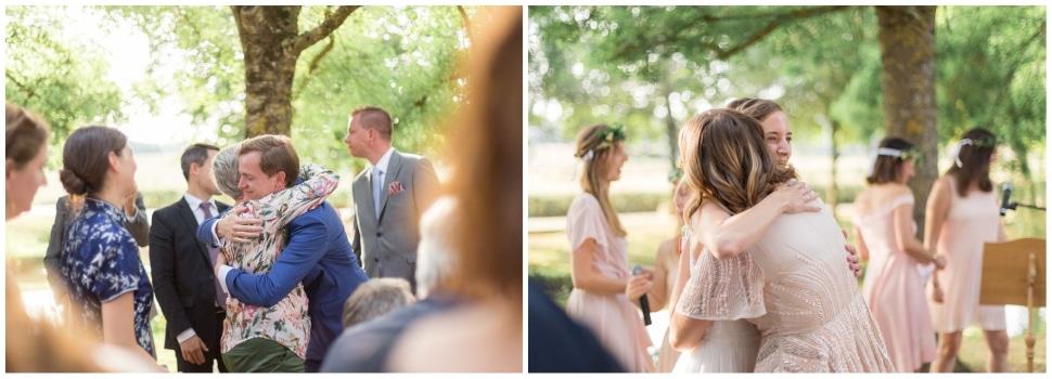 reportage photo d'un mariage en bourgogne sous les arbres