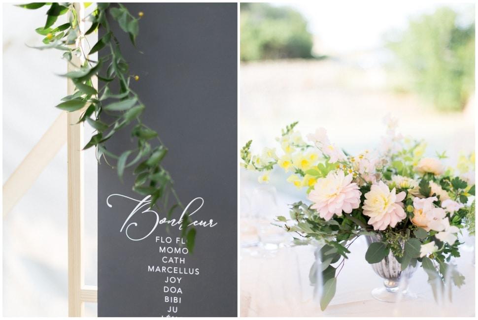 mariage fleuri et calligraphie en bourgogne