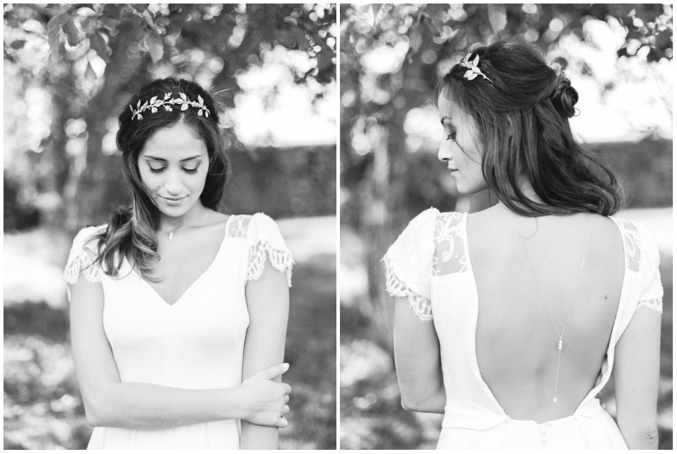 shooting photo noir et blanc de mariage a lyon