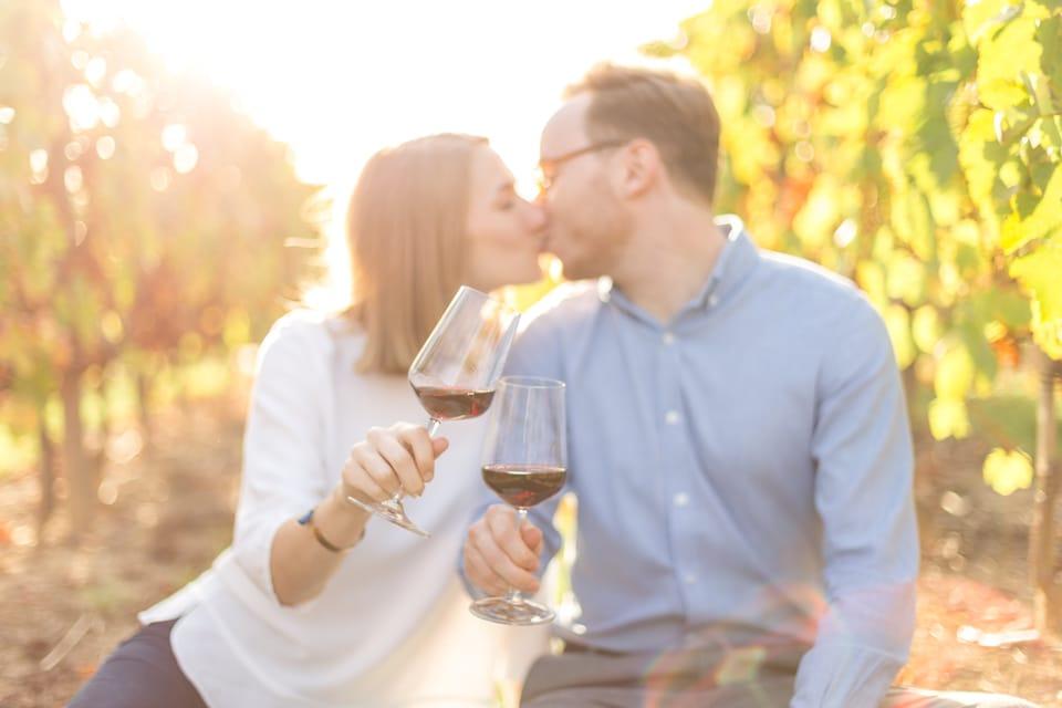 photo de mariage dans les vignes à lyon