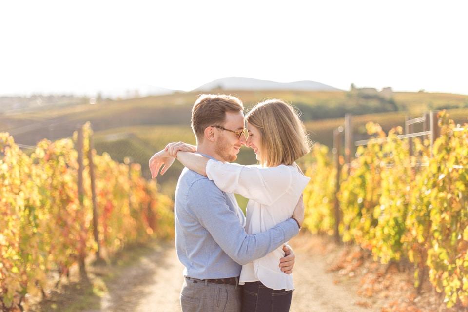 séance photo près de lyon dans les vignes