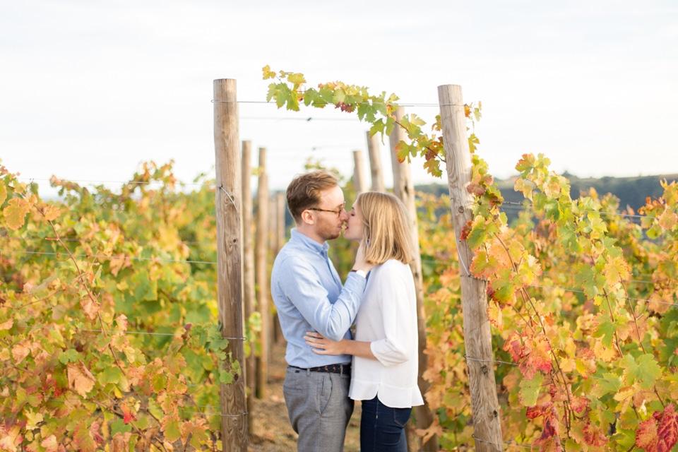 séance engagement dans les vignes en automne près de lyon