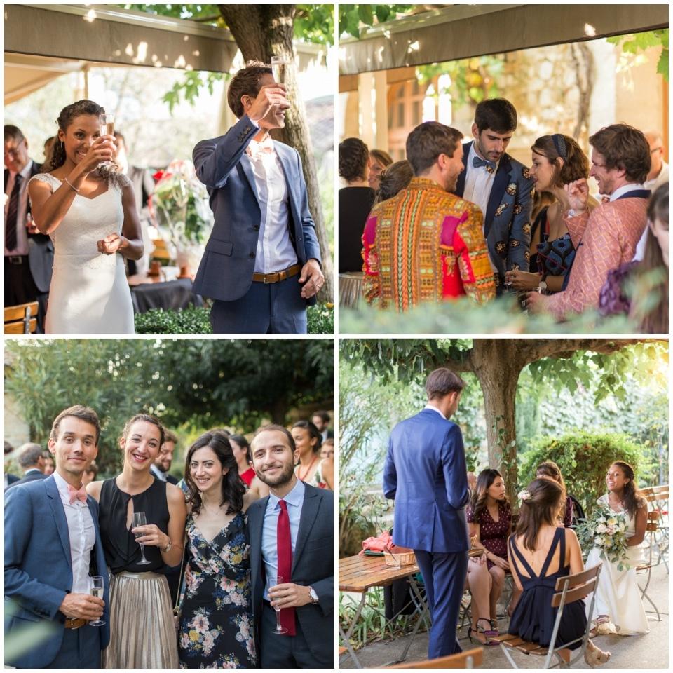 cocktail de mariage les mejeonnes drome provencale grignan