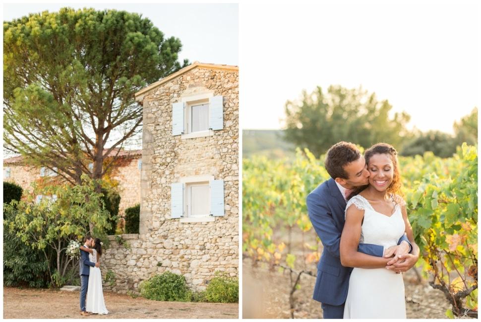 photos de couple de mariés dans la drome provencale près de grignan