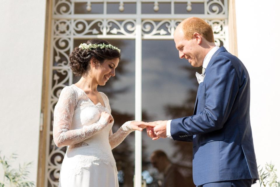 échange des voeux de mariage au chateau des ravatys