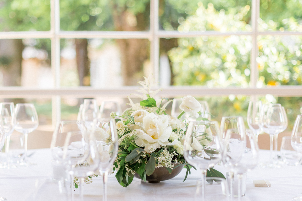 mariage en vert et blanc au chateau des ravatys
