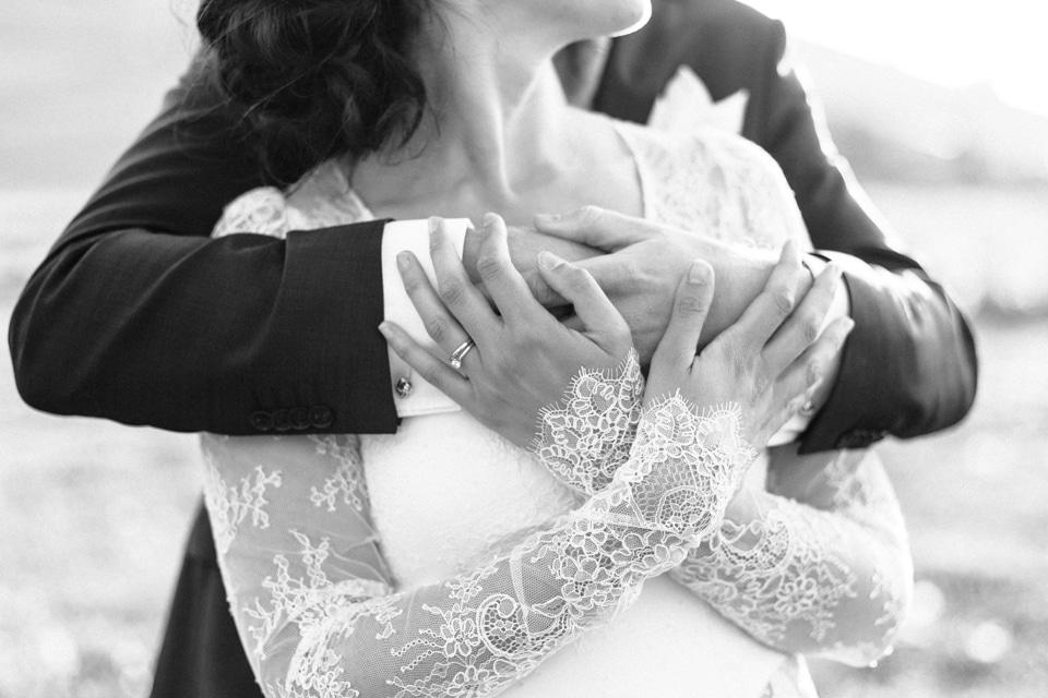 photo de mariage en noir et blanc à lyon