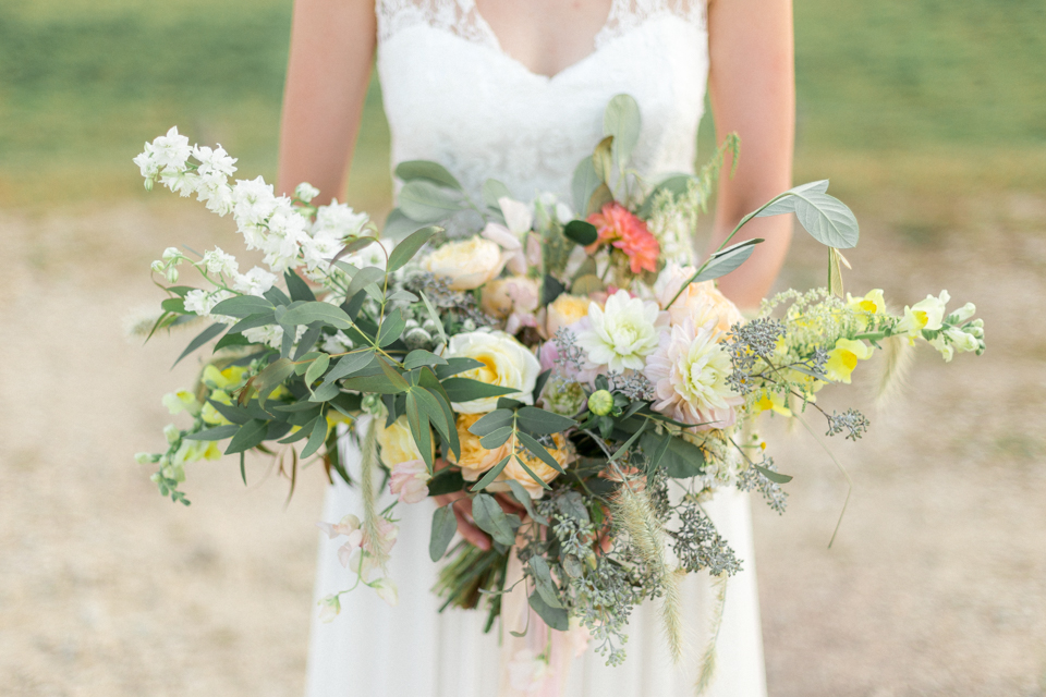 bouquet pastel de la mariée en bourgogne