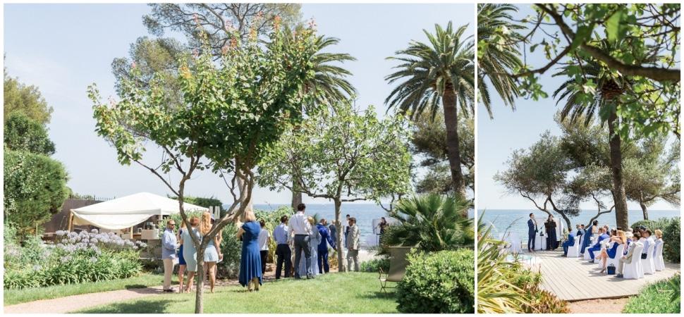 cérémonie laique de mariage à la villa mauresque à saint raphael