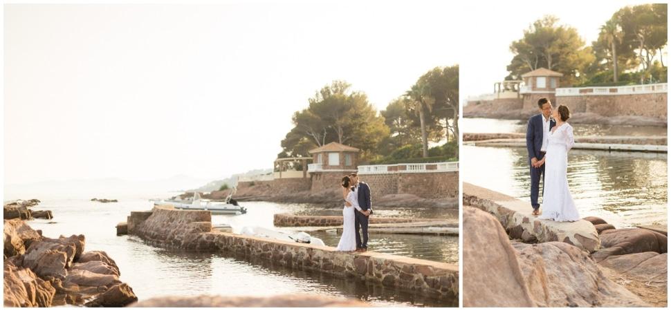 photographie de mariage à la villa mauresque à saint raphael