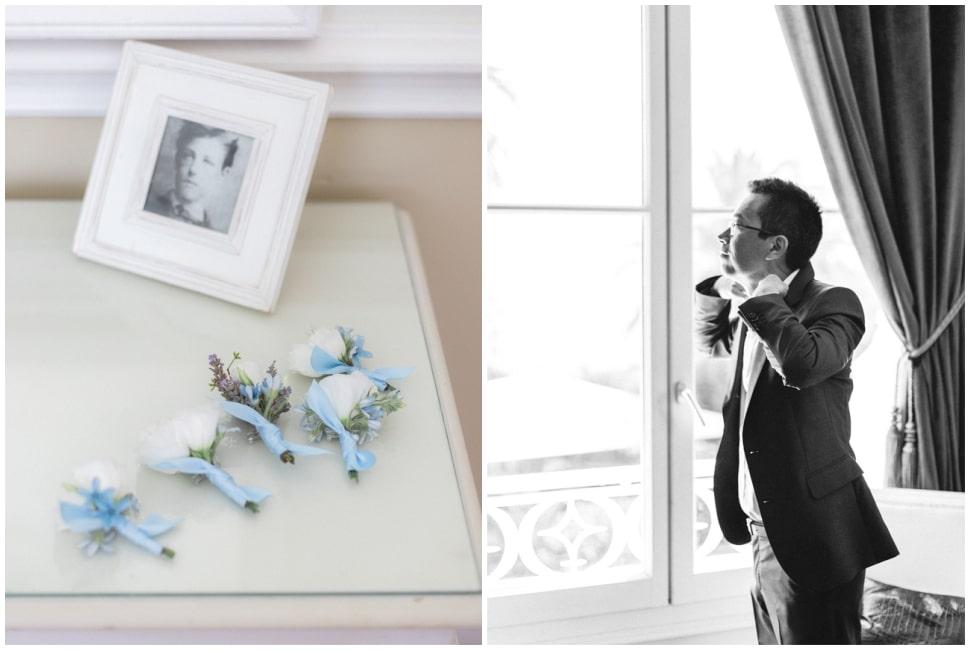 photo des préparatifs du marié à la villa mauresque