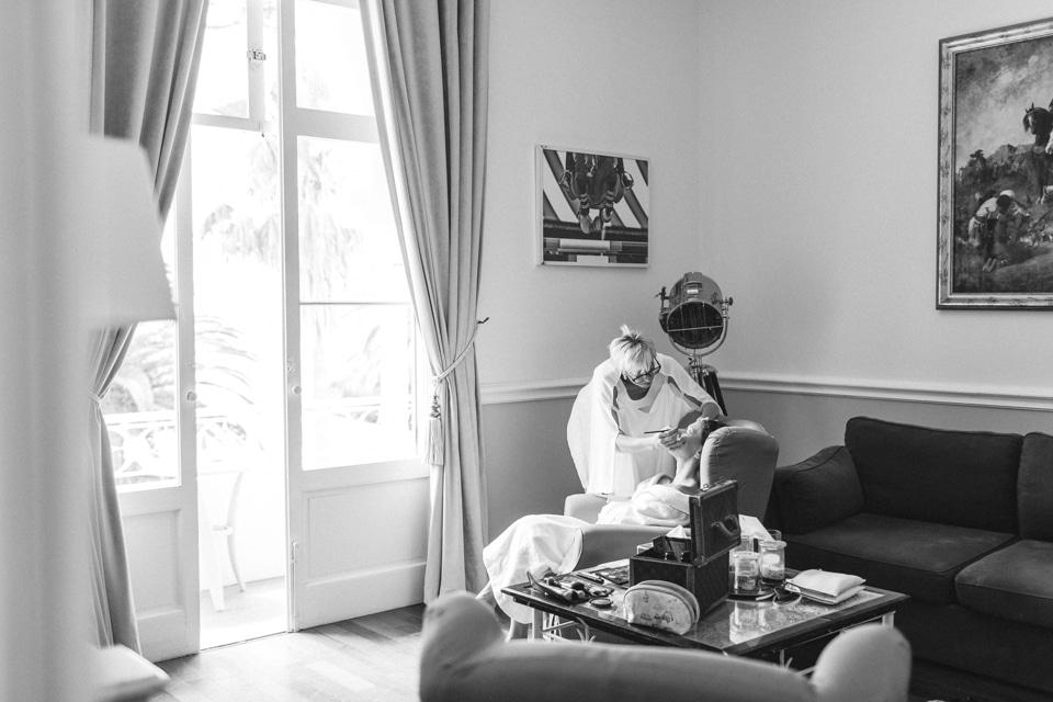 préparatifs de la mariée à la villa mauresque à saint raphael