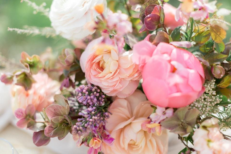 zoom sur une belle composition florale