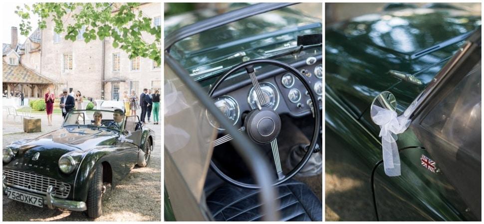 voiture des mariés au chateau de santenay en bourgogne