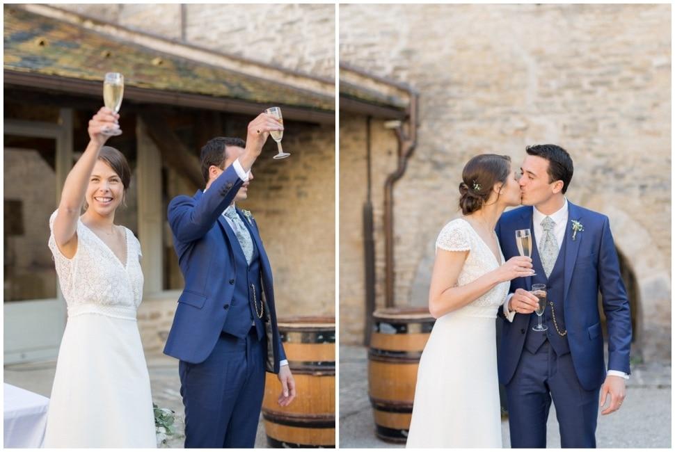 cocktail de mariage au chateau de santenay en bourgogne