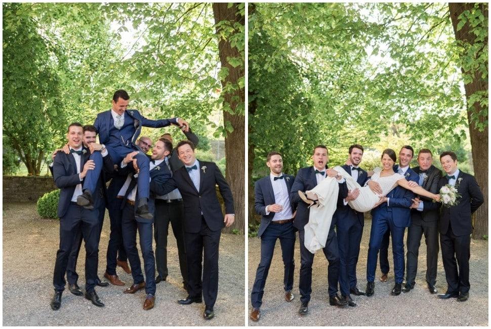 photo de groupe mariage au chateau de santenay en bourgogne