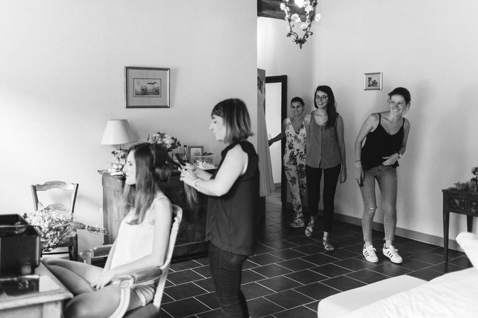 préparatifs de la mariée au chateau du bourg à perreux