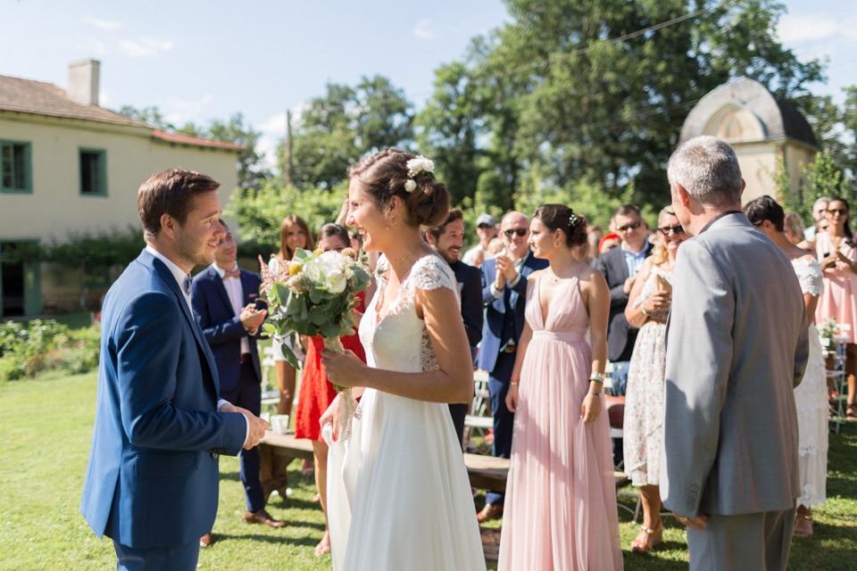 cérémonie mariage au chateau du bourg à perreux