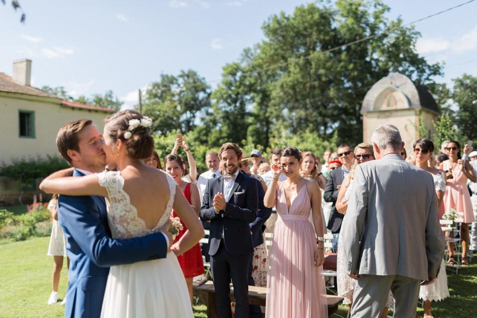 cérémonie laïque de mariage au chateau du bourg