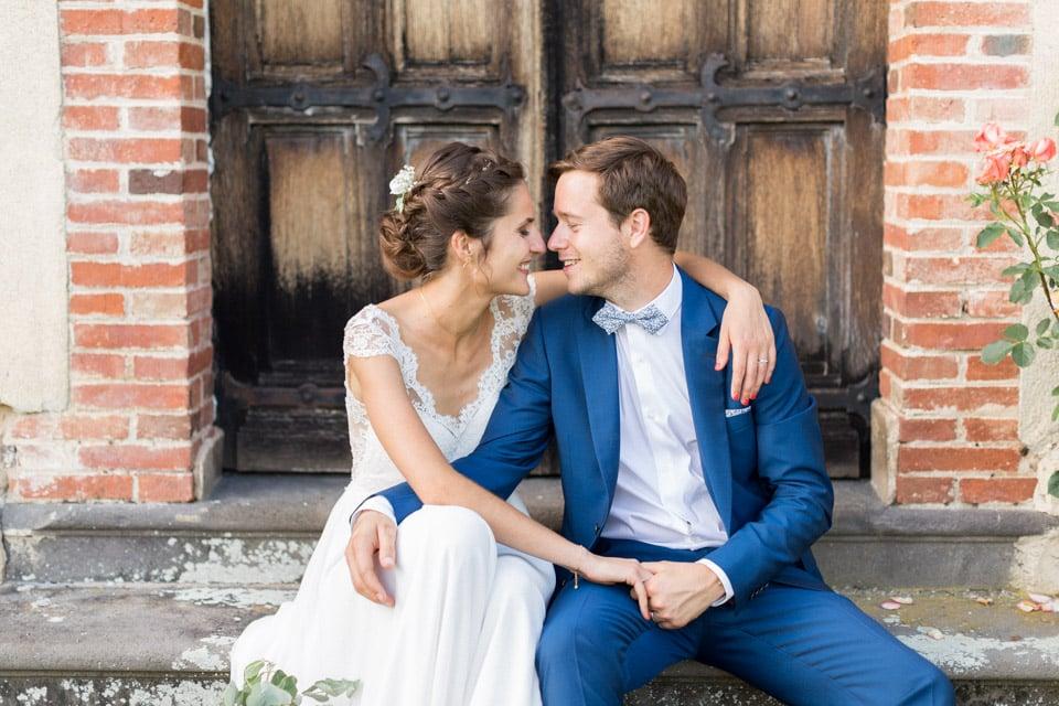 mariés au chateau du bourg à perreux