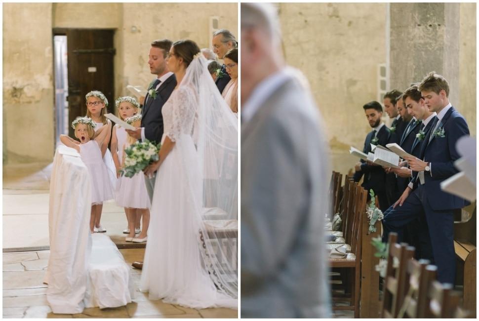 cérémonie religieuse d'un mariage à l'abbatiale de saint chef