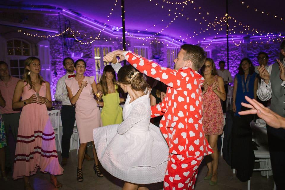 la soirée de mariage au chateau de chapeau cornu