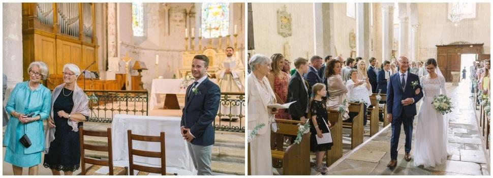 cérémonie église mariage chateau de chapeau cornu