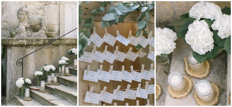décoration de mariage au chateau de chapeau cornu