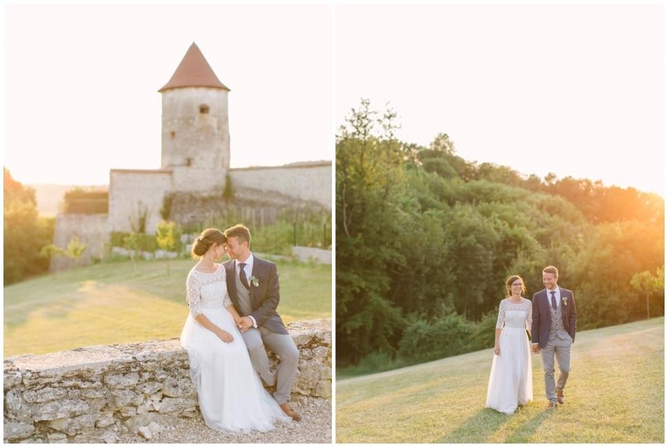 mariés au chateau de chapeau cornu