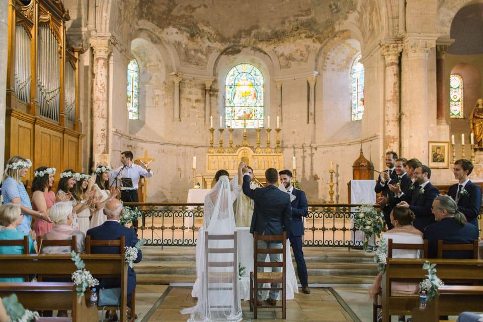 célébration de mariage à l'abbatiale de st chef
