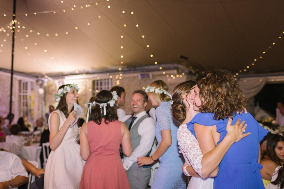 photo de soirée mariage chateau de chapeau cornu