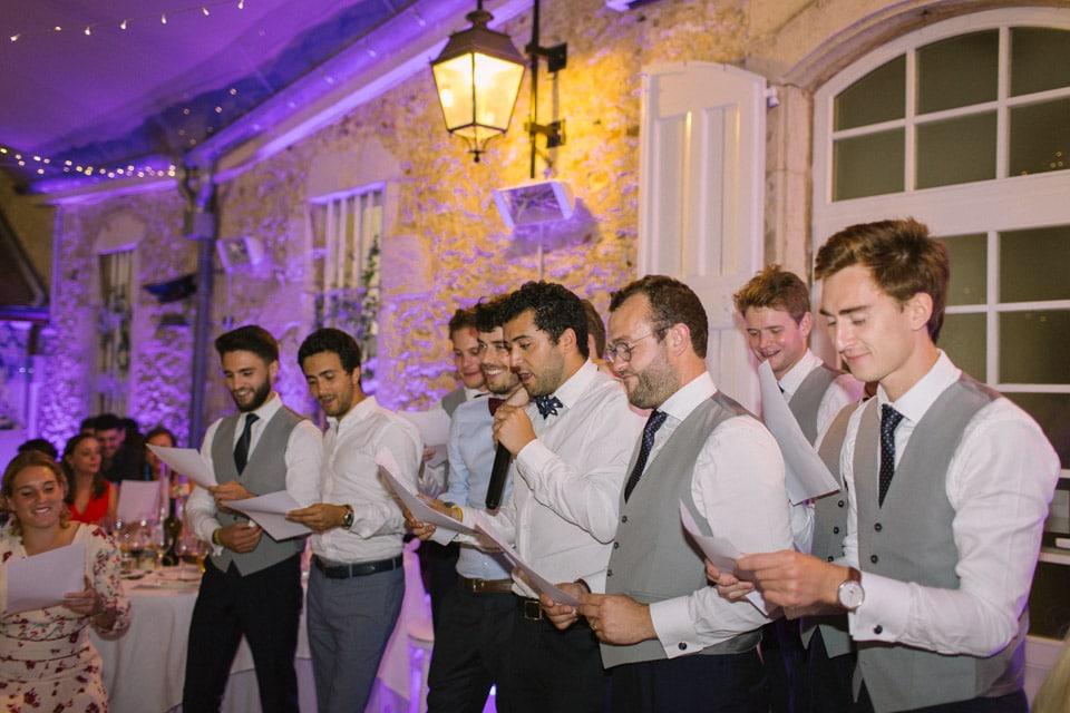discours soirée mariage chateau de chapeau cornu