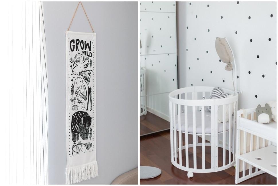 séance photo décoration de la chambre du bébé