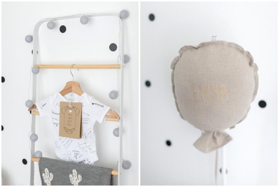 photos de décoration de la chambre du bébé pendant la séance photo