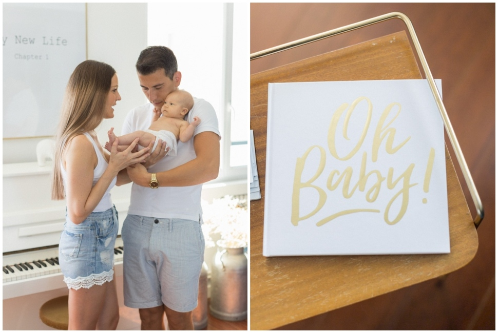 photo de famille après la naissance du bébé a lyon