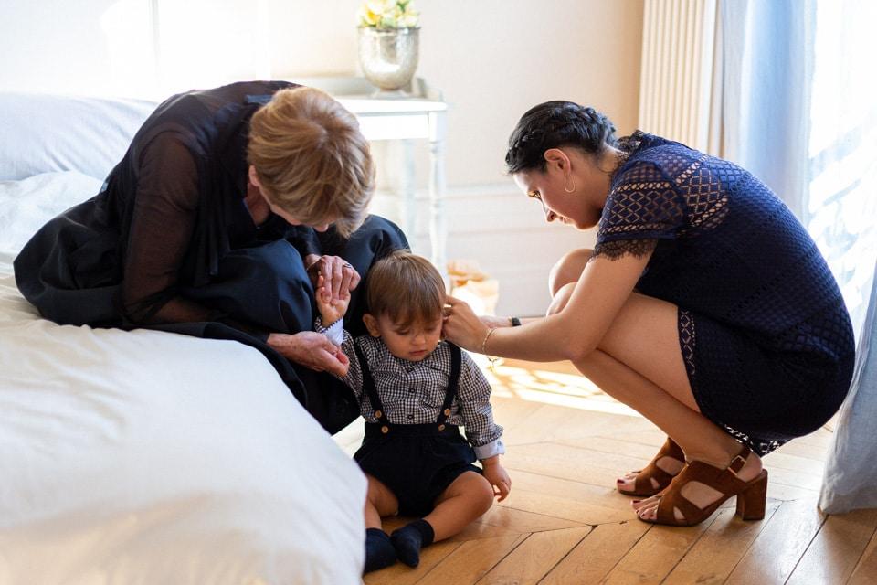 préparation des enfants des mariés au domaine de vavril