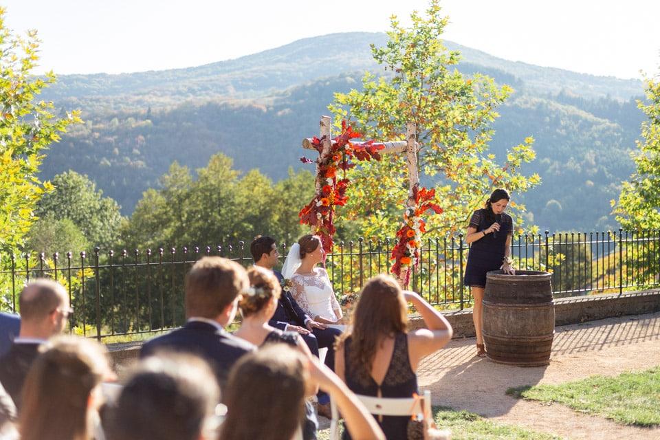 mariage en automne dans le beaujolais