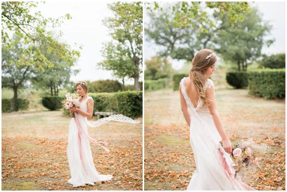 photo de mariage dans le parc du chateau de chassagny