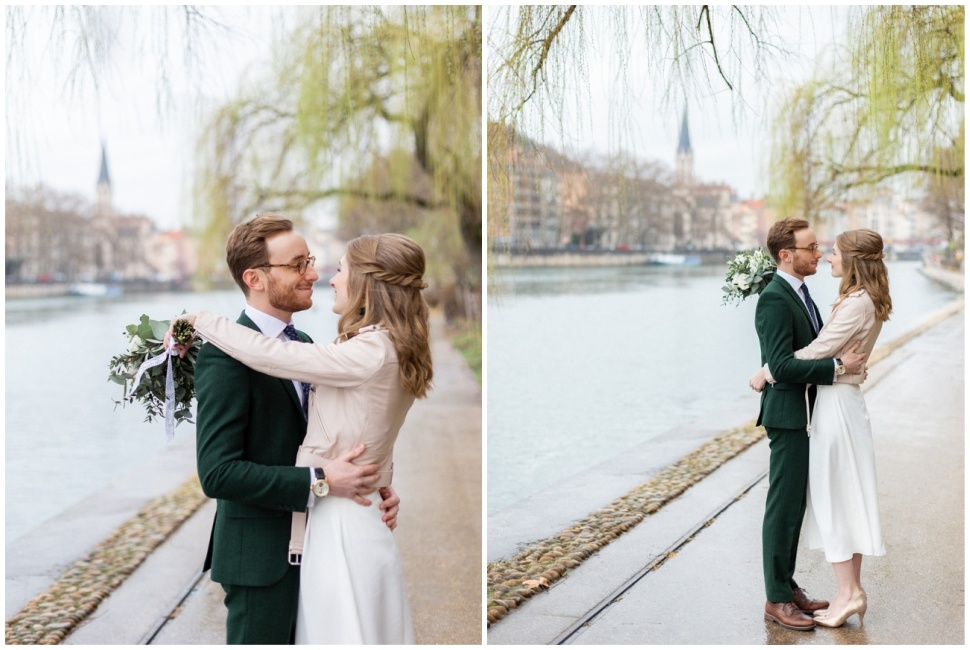 photo de mariage sur les quais de saône à lyon